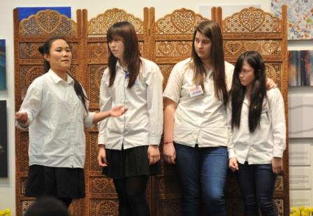 St James students performing Anna's Story at the RAMM